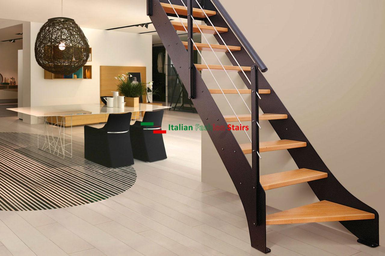 Piccoli Soppalchi In Legno scale per piccoli spazi su misura - scale italian fashion stairs