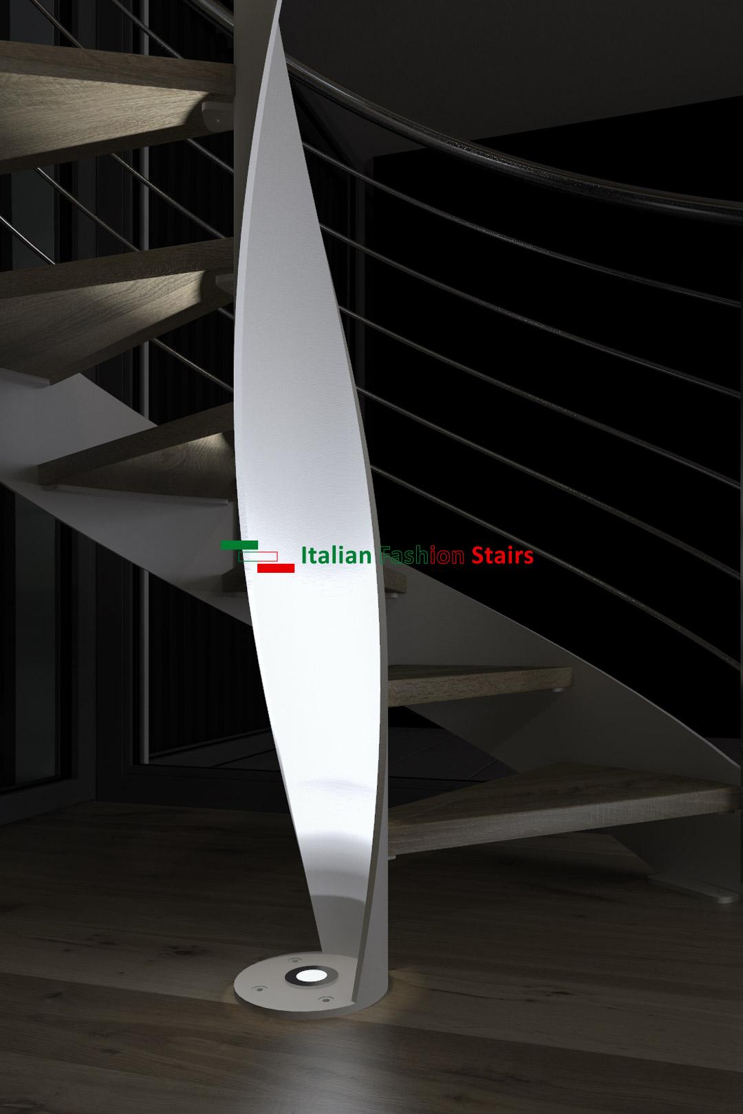 scale a chiocciola di design per interni su misura