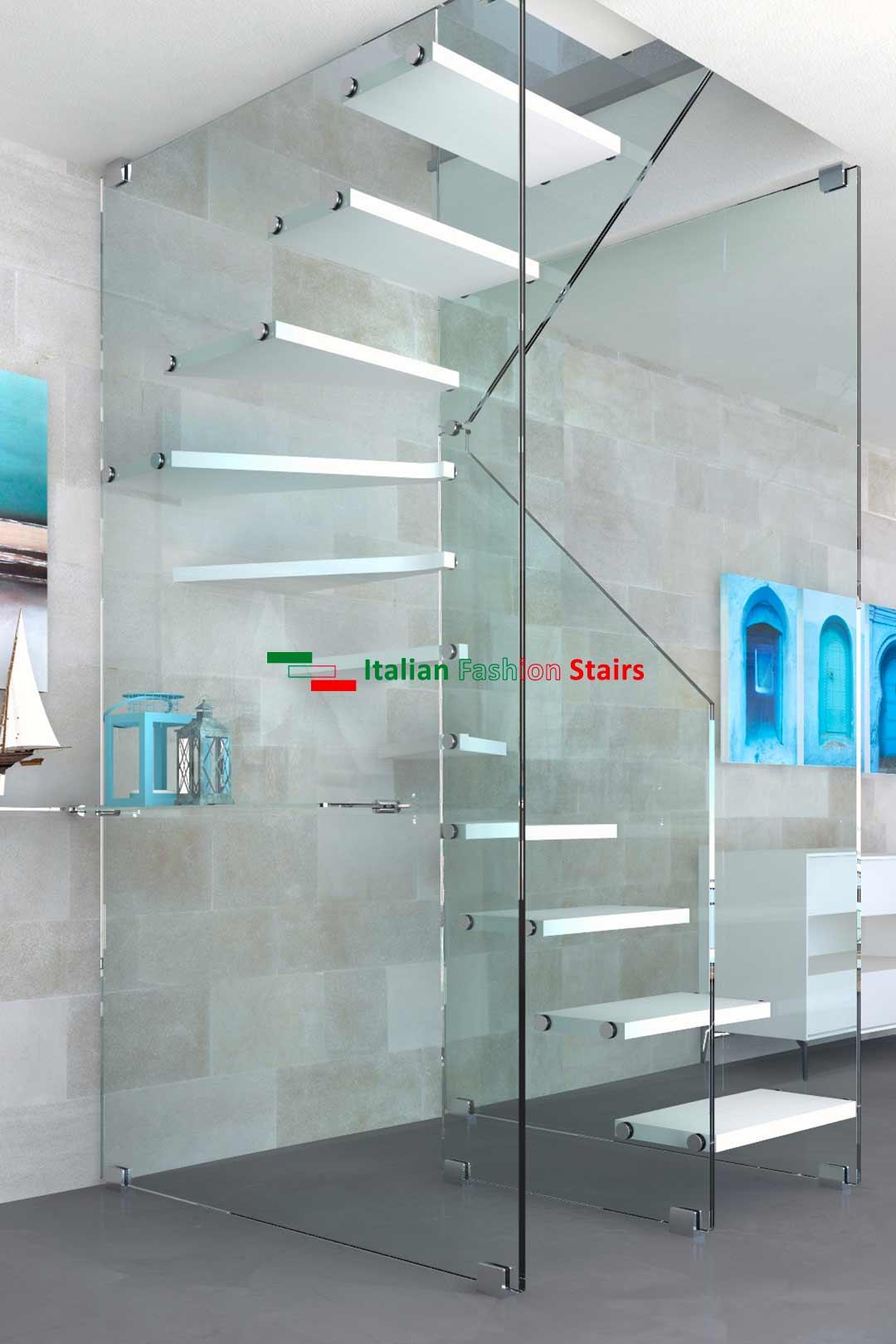 scale a vetro per interni su misura
